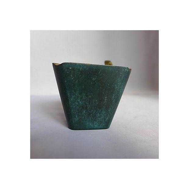 Mid-Century Brass Pipe Smoker's Ashtray - Image 4 of 7