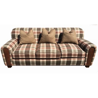 New Ralph Lauren Plaid Fabric Custom Made Sofa