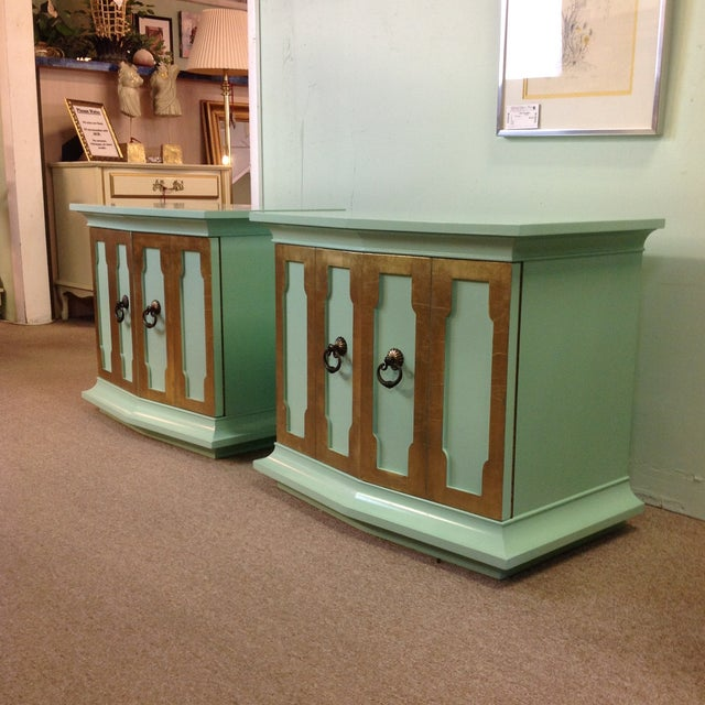 Vintage Painted Wood Side Tables - a Pair - Image 8 of 8