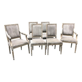 Restoration Hardware French Style Dining Chairs - S/6