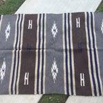 Image of Vintage Kilim Rug in Blue and Brown - 2′10″ × 5′3″