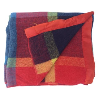 Vintage Multi-Color Plaid Camp Blanket