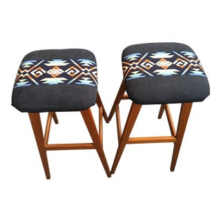 Danish Modern Bar Stools - A Pair