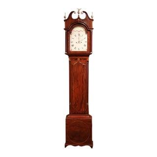 18th Century English Carved Mahogany Tall Case Clock