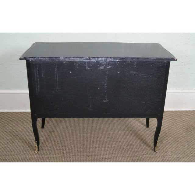 Image of Century Ebonized Chinoiserie Painted Bombe Chest