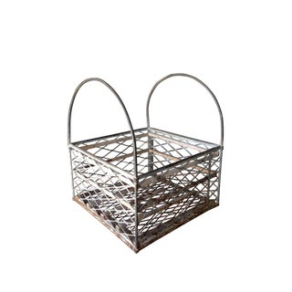 Vintage Metal Basket with Handles