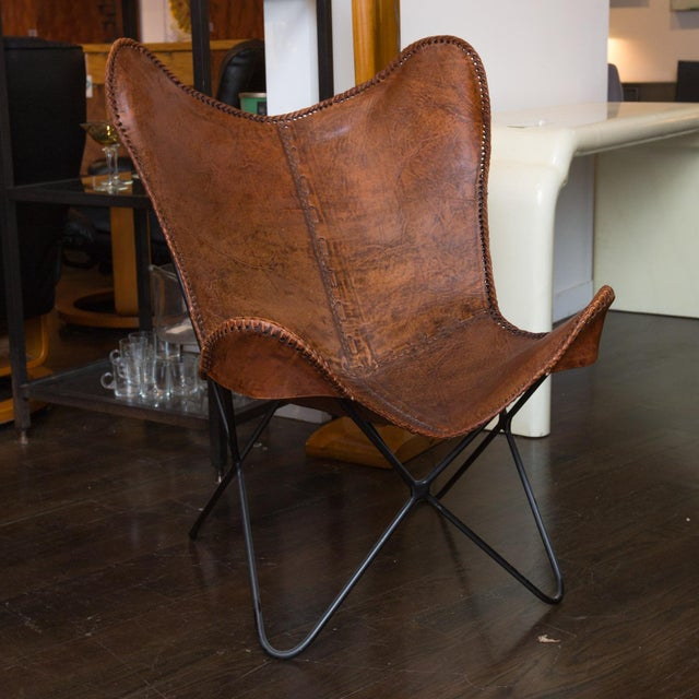 Vintage Leather Butterfly Chair Chairish