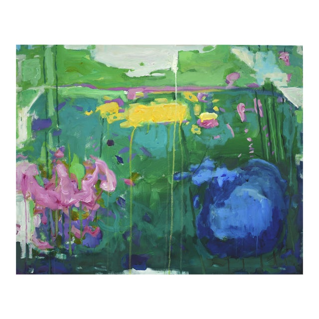 "Stephen Remick Abstract Painting, Garden Party Painting - 24"" X 30"" - Image 1 of 9"