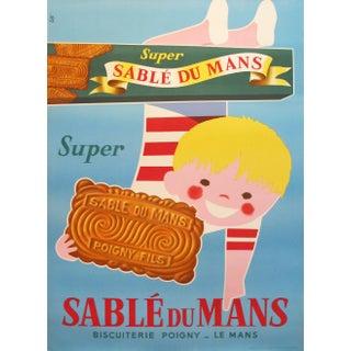 1940s Original Oversize French Poster, Sable du Mans