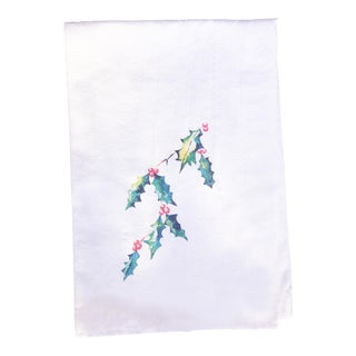 Holly Leaf Tea Towel