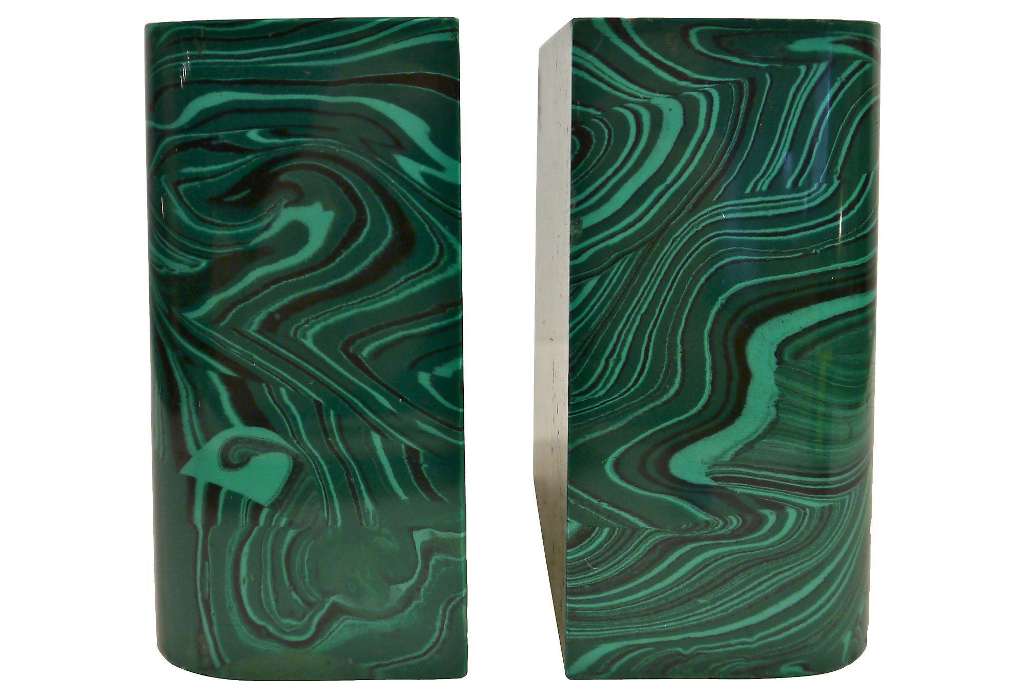 malachite bookends Gallery