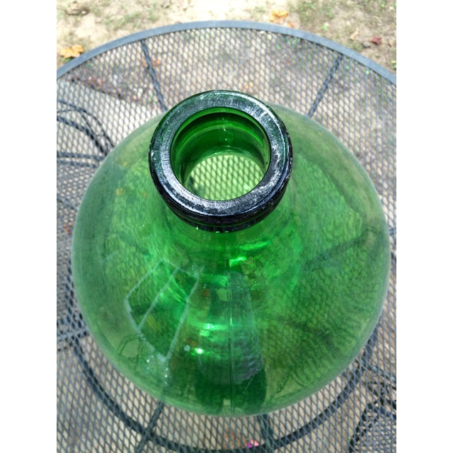 Vintage Italian Green Glass 54 Liter Demijohn - Image 4 of 7