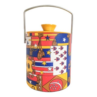 Hollywood Regency Multicolor Ice Bucket