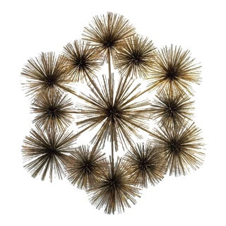 "Large Signed ""Pom Pom"" Wall Sculpture by Curtis Jere"