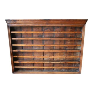 Antique English Walnut Plate Rack