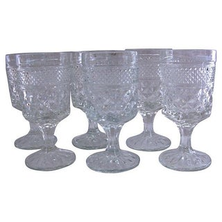 1950s Pressed Cocktail Glasses - Set of 6