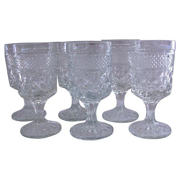 Image of 1950s Pressed Cocktail Glasses - Set of 6