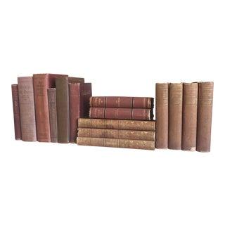 Light Red Antique Books - Set of 15
