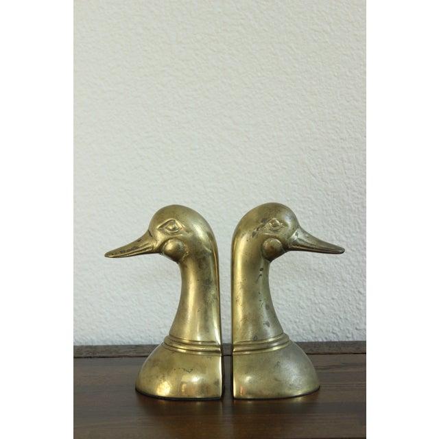 Image of Leonard Japan Mid-Century Brass Duck Bookends