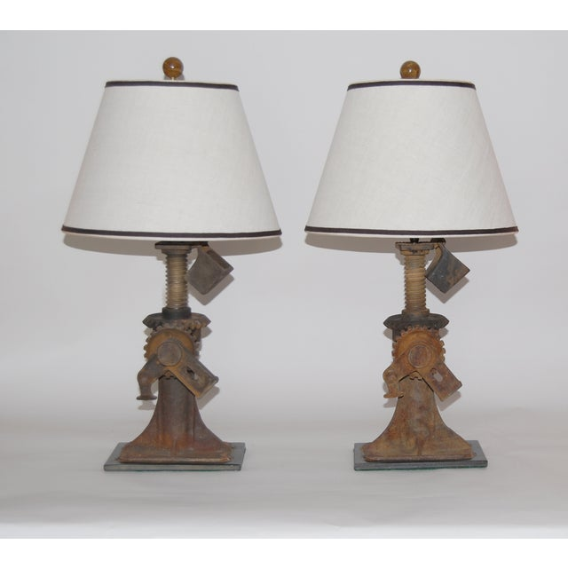 Image of 19th Century Iron Jack Lamps - Pair