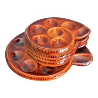 French Escargot Plates, Set of 5