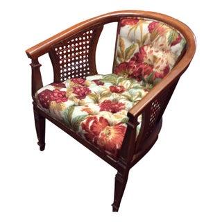 Mid-Century Cane Barrel Chair