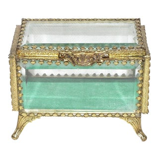 French Style Beveled Glass Jewel Box