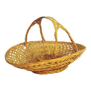 Vintage Woven Bread Basket