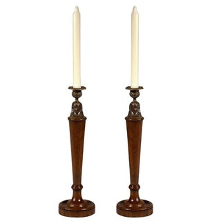 Vintage Sarreid LTD Morgan Hill Candlesticks - A Pair