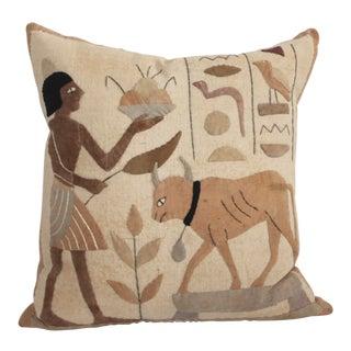 Egyptian Hand Applique Pillow