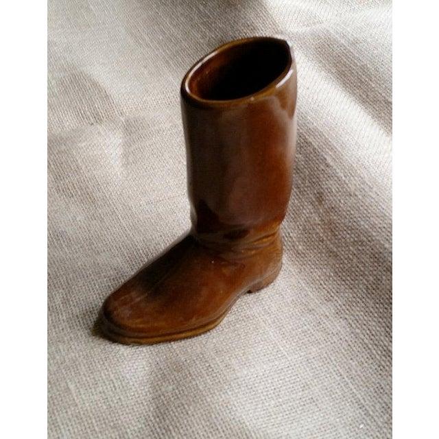Image of Vintage Ceramic Cowboy Boot Vase