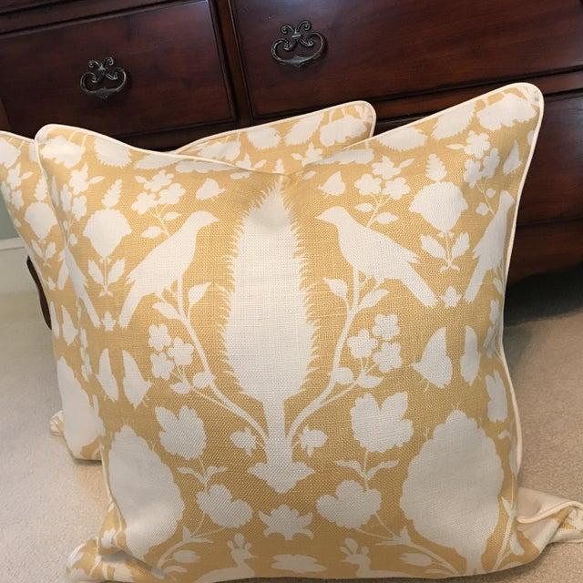 Schumacher Chenonceau Linen Pillows - A Pair - Image 2 of 7