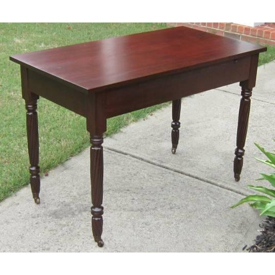 Antique Mahogany Side Table - Image 2 of 2