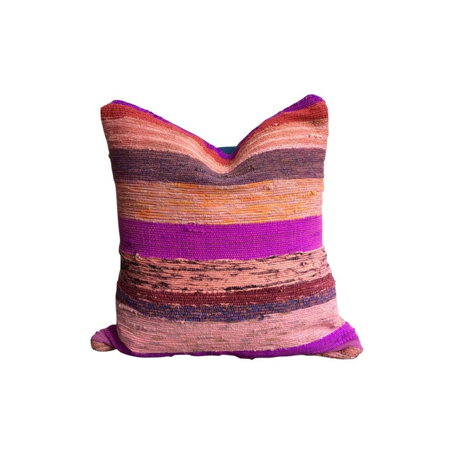 Purple & Pink Rug Pillows - A Pair - Image 1 of 3