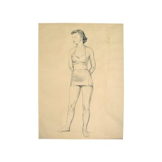 Charcoal Figure Study by C.B. Normann