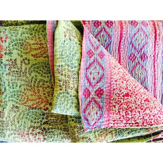 Reversible Vintage Kantha Throw