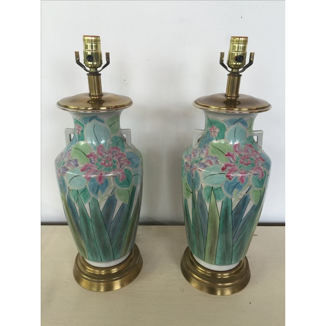 Chinoserie Hand Painted Fredrick Cooper Lamps - 2 - Image 2 of 9