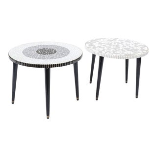 Nevco Tile Side Tables - A Pair