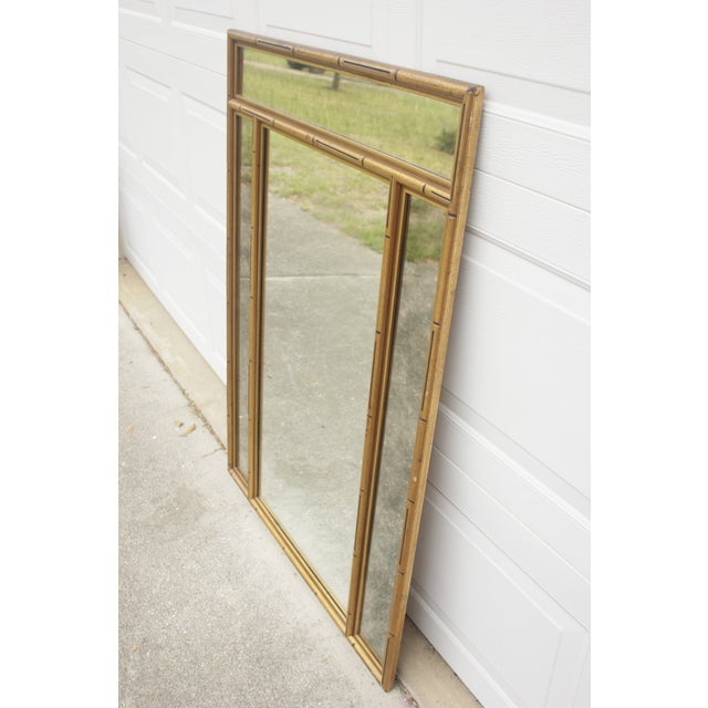 Gold Faux Bamboo Mirror - Image 4 of 7