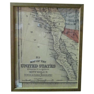 Antique Southwest Sectional Map of the USA