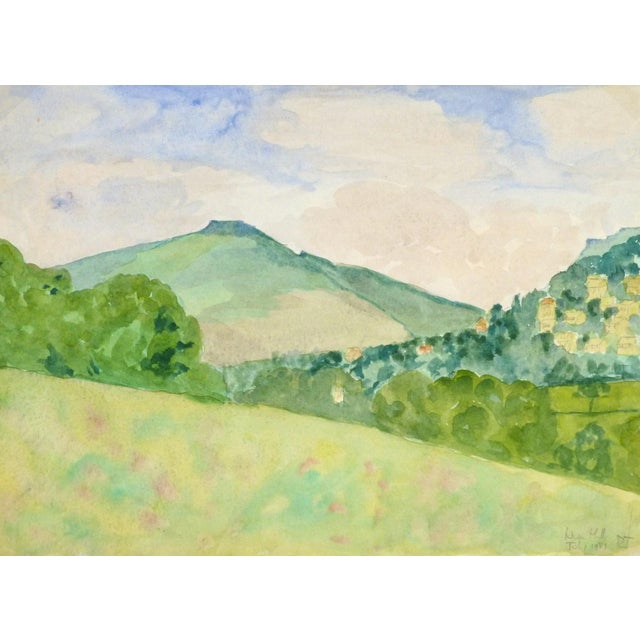 "English Watercolor Painting, ""Nun Hill"" - Image 1 of 3"