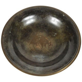 Swedish Bronze Bowl with Ship Detail Inlay