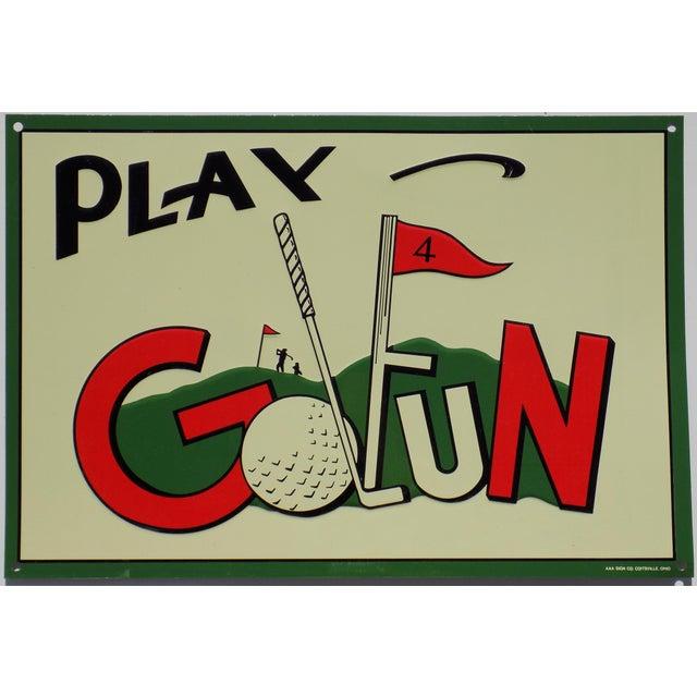 "Vintage ""Play Golfun"" Metal Sign - Image 2 of 5"