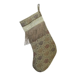 Christmas Stocking with Metallic Fringe