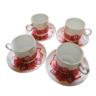 Rosenthal Small Size Flower Tea Cup Service - 4