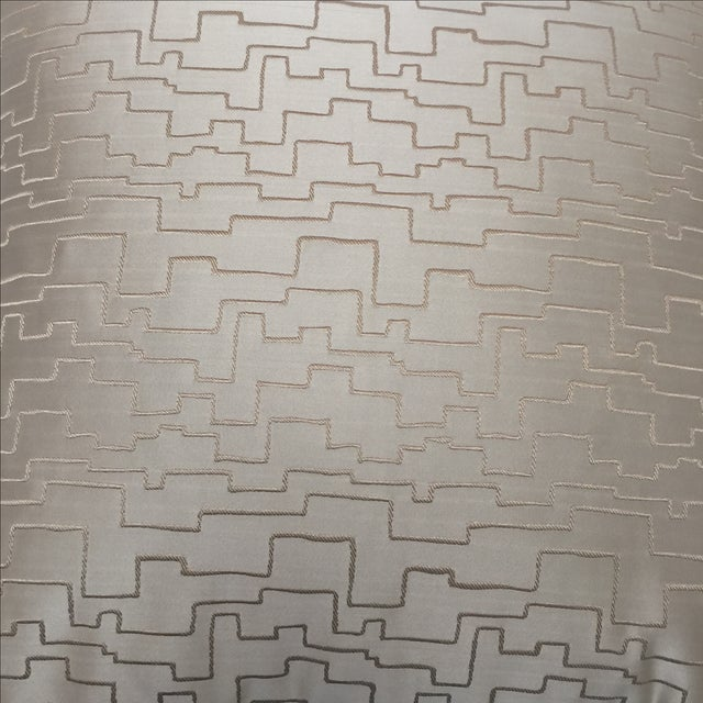 Modern Geometric Satin Pillows- A Pair - Image 5 of 6