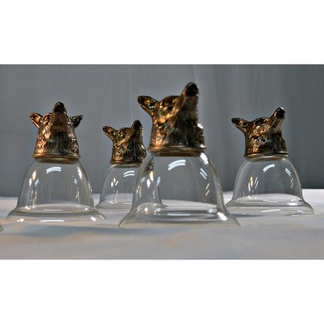 Wolf Head Stirrup Goblets - Set of 5 - Image 2 of 10