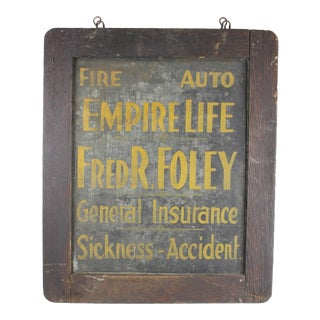 Antique Tin Insurance Sign