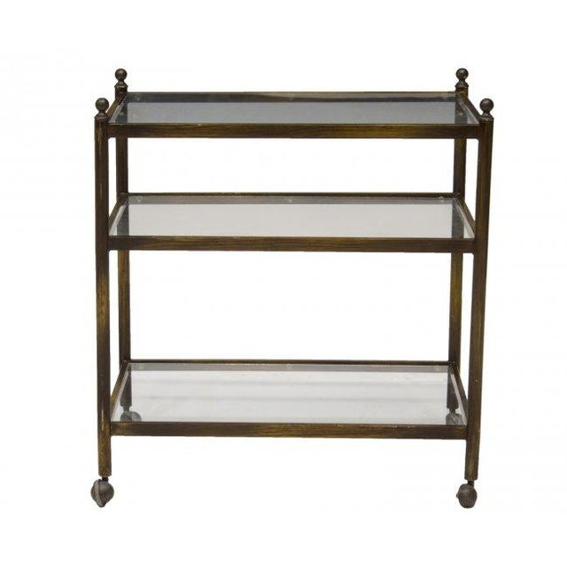 Image of Mid-Century Metal & Glass Bar Cart