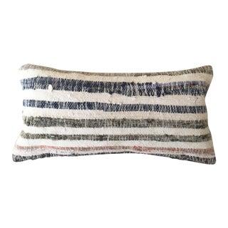 Moroccan Berber Navy & Gray Pillow Cover